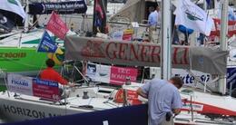 photo diaporama sport solitaire du figaro à deauville: retour en images sur les pontons