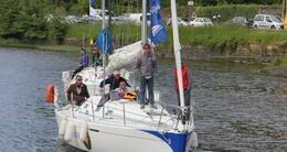 photo diaporama sport trophée tresco: en images, l'arrivée des bateaux dans le port de morlaix