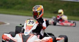 photo diaporama sport karting à aunay: les favoris du championnat de france se sont montrés