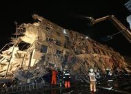 en images. taïwan : les secours à pied d'?uvre après le séisme