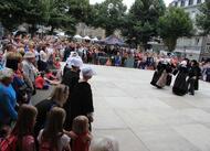 saint-loup à guingamp. la foule en ville pour la dernière journée