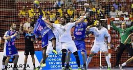 photo diaporama sport handball. les stars du psg s'imposent devant cesson