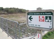 le barrage du gué gorand est vide à saint-révérend