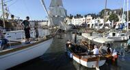 photo diaporama info semaine du golfe. la foule a rencontr� les flottilles sur les quais