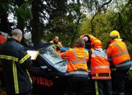 saint-nicolas-du-pélem. un exercice grandeur nature pour les pompiers