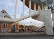 saint-brieuc. la passerelle de la gare en images