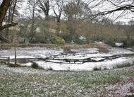 en images. carhaix sous la neige