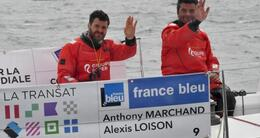 photo diaporama info transat ag2r. alexis loison et anthony marchand gagnent le prologue
