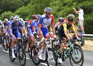 en images. le passage du tour de france en sarthe