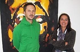 photo sandrine joly et loïc parthiot sont intervenants en arts plastiques pour l'association maubeugeoise. © la voix du nord