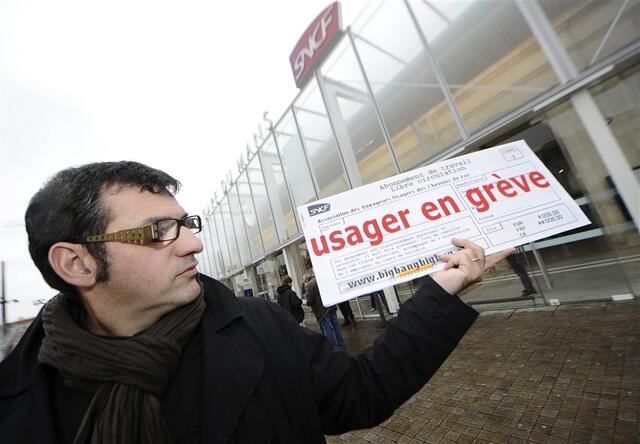 photo willy colin, porte parole de l'avuc lance le mouvement de protestation contre les nouveaux horaires © photo le maine libre denis lambert