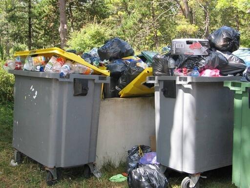 poubelles de camping