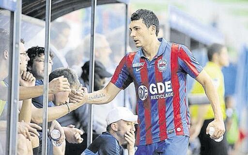 Mathieu Duhamel a inscrit 5 buts lors des 10 premières journées. Il est actuellement le meilleur buteur du SM Caen.