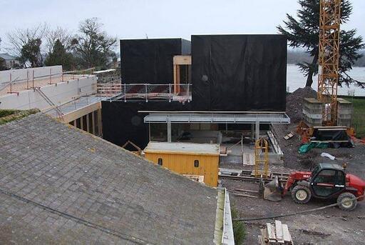 Le bâtiment en construction dans l'enceinte du château d'Ancenis DL;doit être livré à la mi-2013.