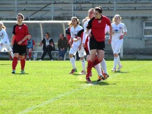 À Lamballe, les joueuses de Juvisy viennent affronter des équipes masculines et l'équipe féminine de Guingamp.