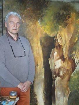 L'artiste Jean-Louis Filoche peint la Mayenne - Laval.maville.com