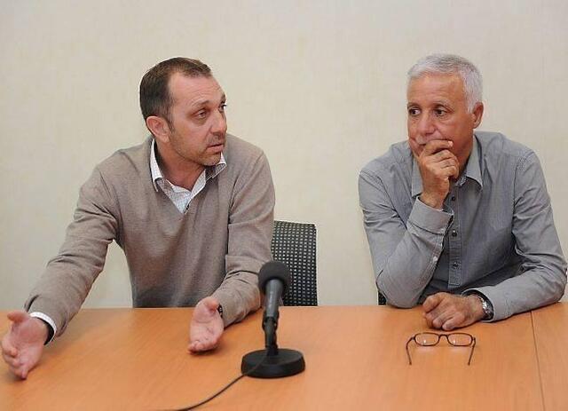 Nasser Larguet, ici aux côtés de Xavier Gravelaine en juillet, lors de présentation du nouveau patron du centre de formation. Déjà de l'histoire ancienne...