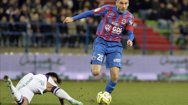 Julien Feret a marqué le deuxième but caennais sur penalty