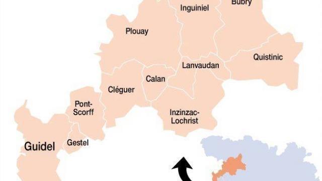 photo le nouveau canton de guidel et ses onze communes. © ouest-france