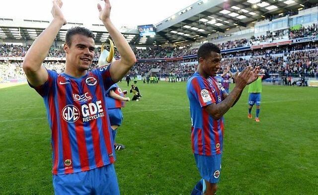 Damien Da Silva, Emmanuel Imorou et tous les Caennais pouvaient exulter samedi après leur exploit contre Lyon. Le maintien est là, à portée de main.