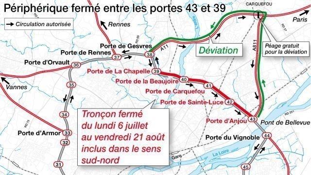 Nantes : Le périphérique Est extérieur ferme aujourd\'hui pour l\'été ...