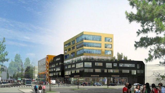 photo rennes. l'immeuble de bureau meioza sera construit au cœur du gast à maurepas. les travaux vont débuter fin juillet. livraison fin 2016. © image : agence peoc'h et rubio