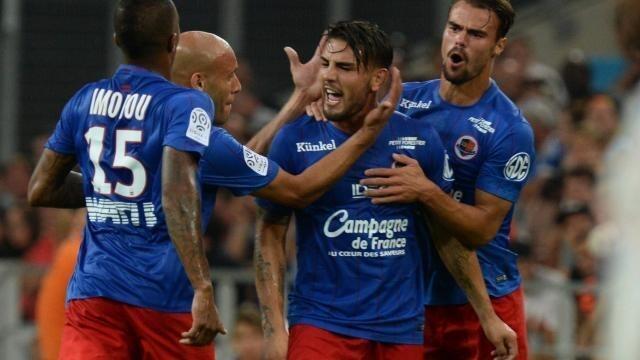Andy Delort a marqué l'unique but du match au vélodrome, et Caen s'impose à Marseille.