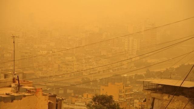 photo au moins deux personnes sont mortes au liban à cause d'une tempête de sable © reuters