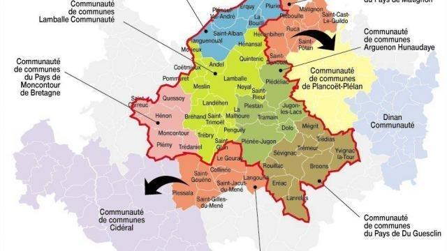 Carte Bretagne Lamballe.Intercommunalite Lamballe Place Forte Dans L Est Des