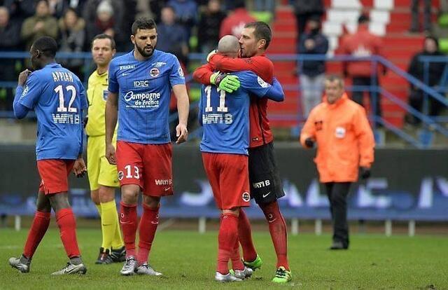 Rémy Vercoutre et Vincent Bessat peuvent se féliciter, les Caennais repartent de l'avant avec cette deuxième victoire de suite
