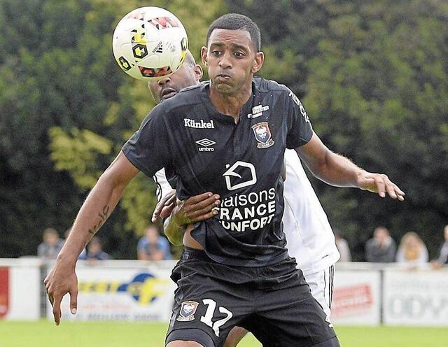 Rodelin a inscrit le premier but de Malherbe, samedi, contre la sélection UNFP