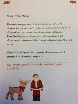 La Lettre Au Pere Noel D Avocats Nantais Pour Obtenir Un Juge