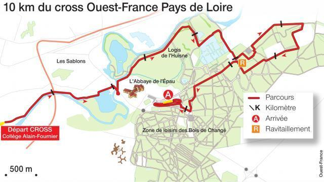 carte interactive ouest france Cross Ouest France Pays de la Loire : le 10 km [carte interactive