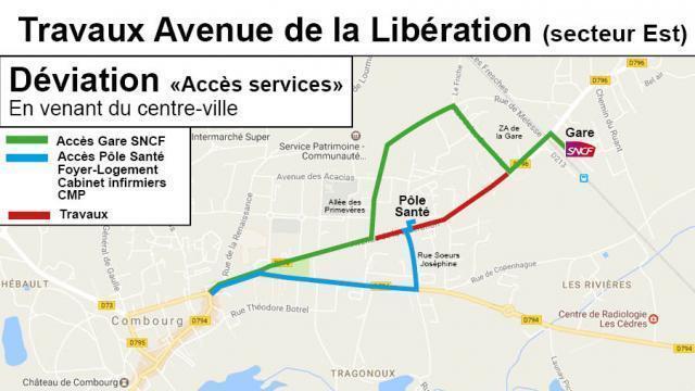 Des Travaux Avenue De La Liberation A Combourg Saint Malo Maville Com
