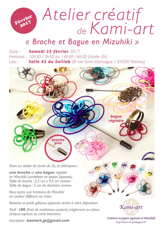 Art color nantes horaires - Atelier Cr Atif De Kami Art Broche Et Bague En Mizuhiki Sorties Internaute Nantes Maville Com