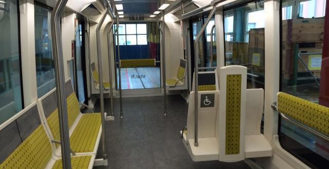 photo la première du cityval de siemens, qui équipera la ligne b du métro de rennes à l'horizon 2020.