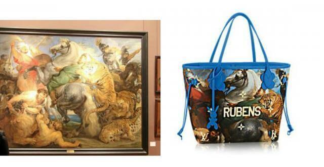 photo « la chasse au tigre » de rubens, oeuvre peinte entre 1615 et 1617, est visible au musée des beaux-arts de rennes et sur le sac louis vuitton.