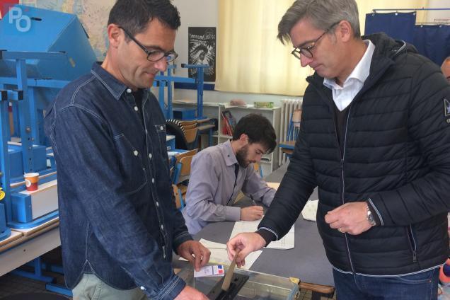 Présidentielle nantes françois pinte lr a voté à l école de la