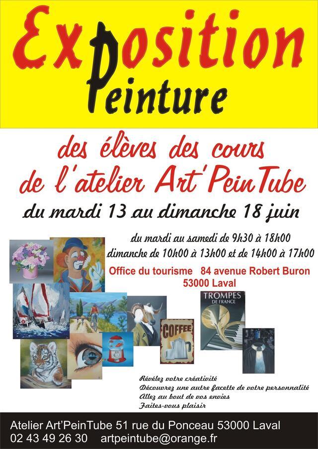 exposition peinture des élèves des cours de l'atelier artpeintube ... - Cours De Cuisine Laval 53