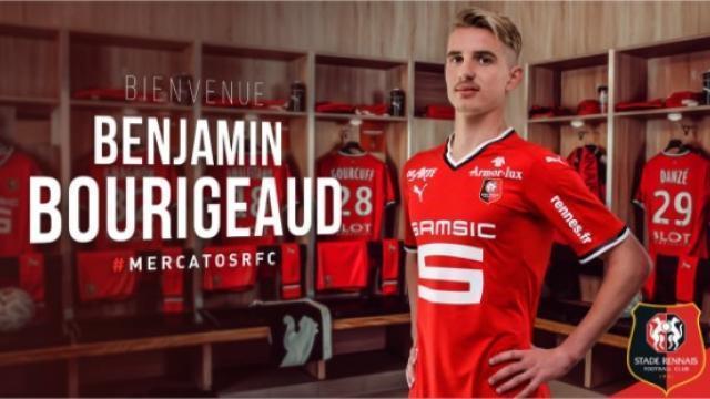 photo benjamin bourigeaud s'est engagé pour quatre saisons avec le stade rennais. © photo : twitter