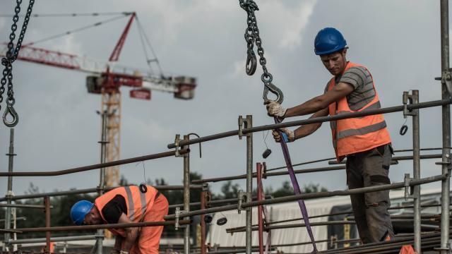 photo la construction est l'un des secteurs lesp lus créateurs d'emplois au 2e trimestre. © archives ouest-france