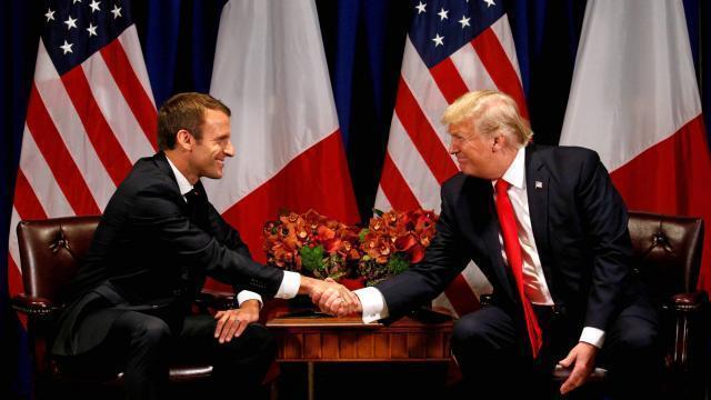 photo contrairement à son homologue américain donald trump, le président français emmanuel macron prône le multilatéralisme. © reuters