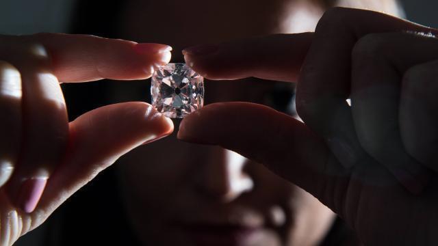 photo un diamant rose de 19,07 carats, ayant appartenu à la royauté française, sera vendu lors de la traditionnelle vente de novembre de haute-joaillerie à genève, a indiqué mercredi christie's. © afp