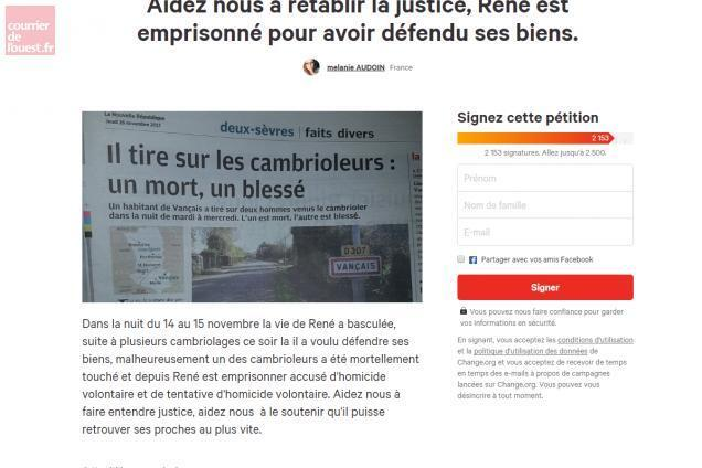 Vançais  Une pétition pour soutenir le tireur de Vançais