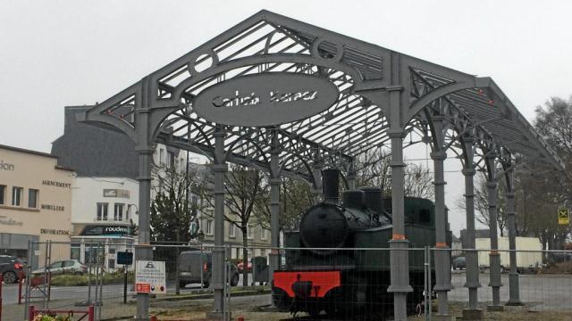 photo les travaux sont en cours, place de la gare. © ouest-france