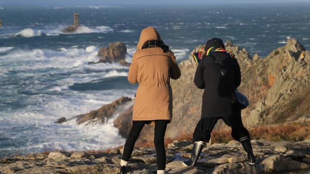 photo le vent souvent d'ouest restera fort près des littoraux. © yves-marie quemener / ouest-france