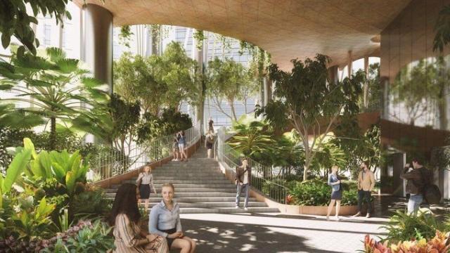 Singapour Des Jardins Suspendus Dans Une Tour De Bureaux
