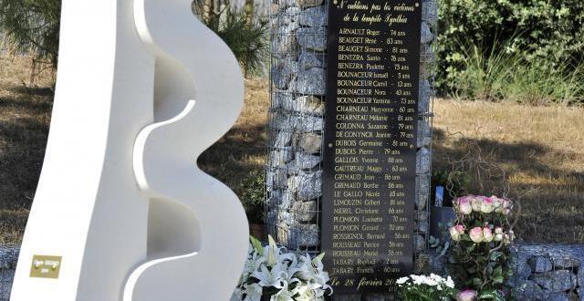 photo la stèle à la mémoire des vingt-neuf personnes décédées lors de la tempête xynthia. la commémoration aura lieu dimanche 4 mars 2018, à la faute-sur-mer.