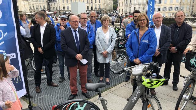 photo ce samedi 9 juin, l'agglomération vannetaise a lancé officiellement ses vélos en libre service : vélocéo. six stations sont déployées dans à vannes. © maël fabre