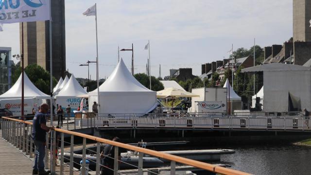photo a saint-brieuc (côtes-d'armor), le port du légué est prêt à accueillir les skippers de la solitaire du figaro et le public du village étape. © ouest-france